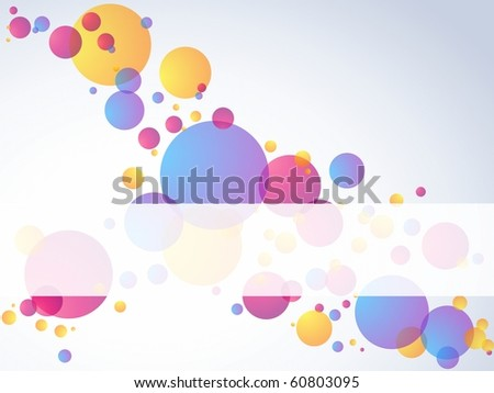 Transparent bubble banner, horizontal (jpg); Eps10 version also available - stock photo