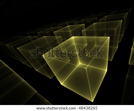 transparent cubes - stock photo