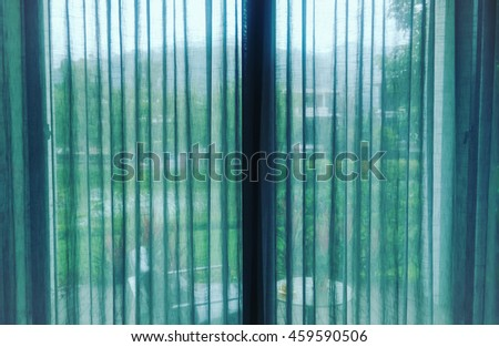 Transparent curtain