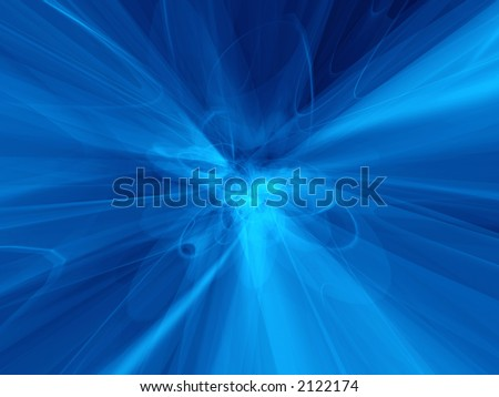 Transparent curved trails spreading out from the core - stock photo