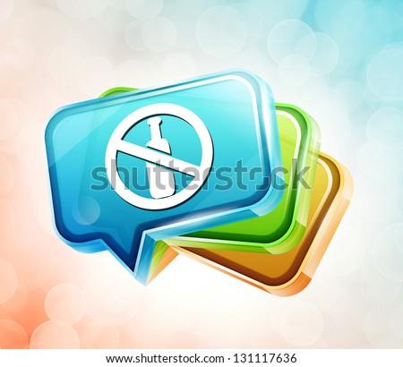 Transparent label icon - stock photo
