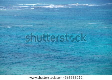 Transparent of sea - stock photo