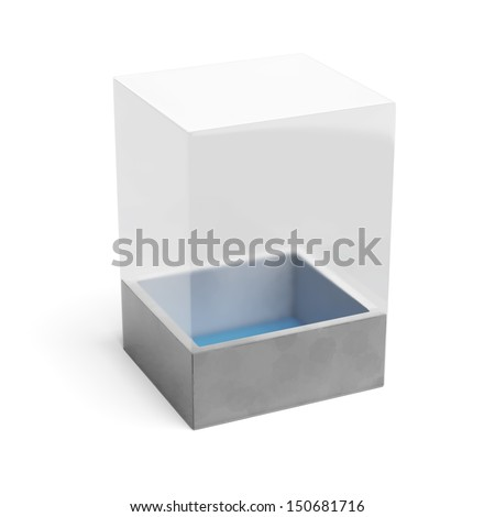 transparent package - stock photo