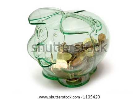 Transparent Piggybank - stock photo