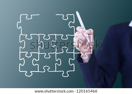 Transparent puzzle, - stock photo