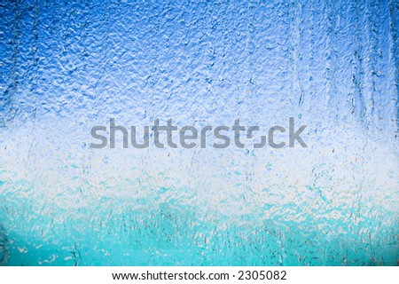 Transparent waterfall. the view from within - stock photo
