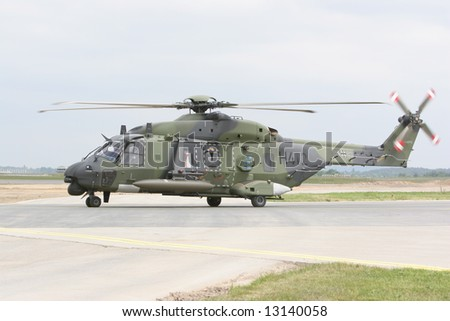 transport helicopter - stock photo