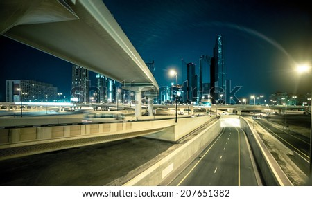 transport interchange in Dubai. UAE - stock photo