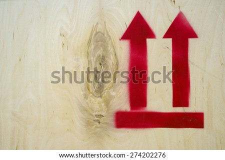 Transport stencil icon on plywood - stock photo