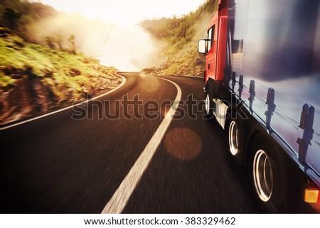 Transport truck - stock photo