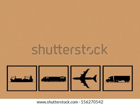 Transportation background - stock photo