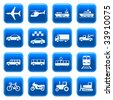 Transportation icons buttons set 3. Raster version of vector image #27804889 - stock vector