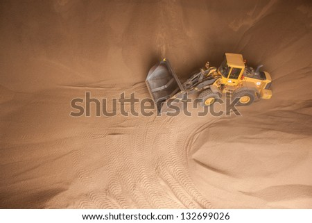 Transportation of wooden granules (renewable material) in stock - stock photo