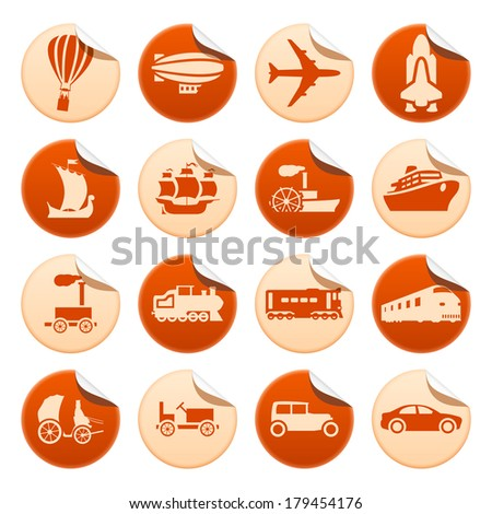 Transportation progress stickers. Raster version of EPS image 42158284 - stock photo