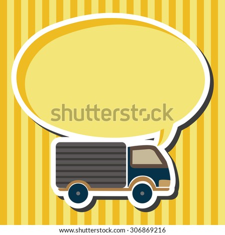 Transportation truck icon cartoon speech icon - stock photo