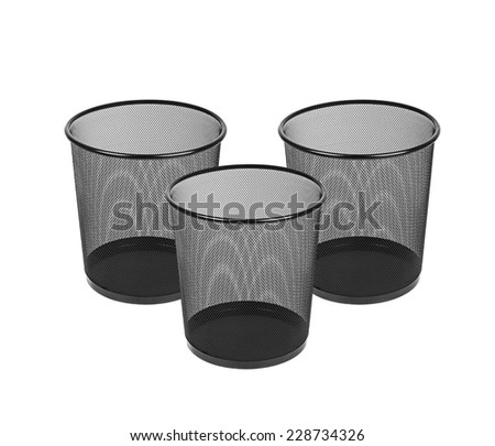 Trash can isolated - stock photo