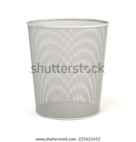 Trash can isolated on white background - stock photo
