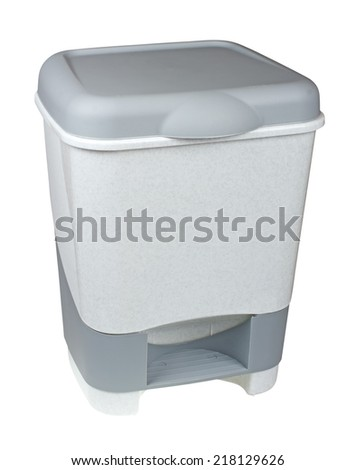 trash can with lid isolated on white background
