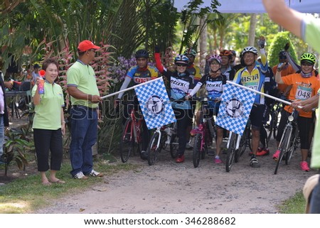 TRAT, THAILAND - November 27-29, 2015:Trat Three Island Cycling Fest 2015 at TRAT, THAILAND