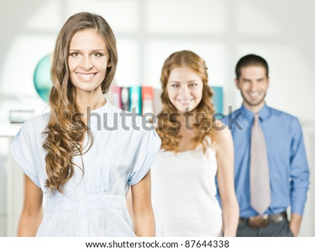 travel agent office - stock photo