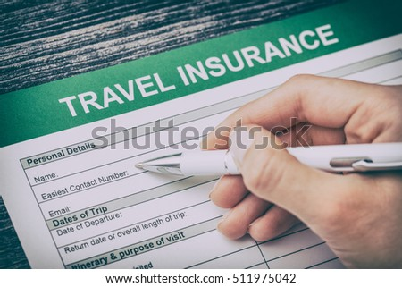 travel agent safe plan trip holiday insurance money concept form business security paper transportation pass vacation policy concept - stock image
