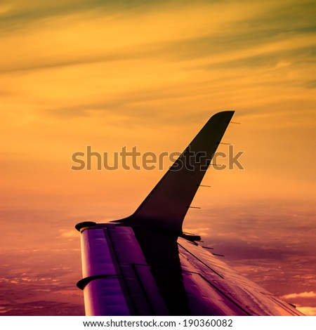 Travel and Aviation abstract instagram processing - stock photo