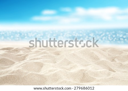 travel background of sand and sea space  - stock photo