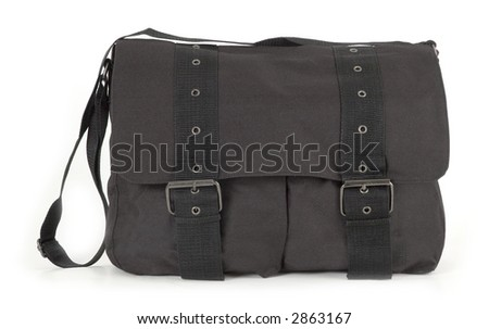 travel bag, portfolio (isolated)