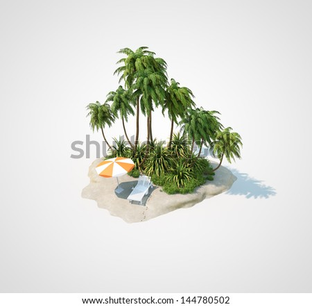 travel beach island - stock photo