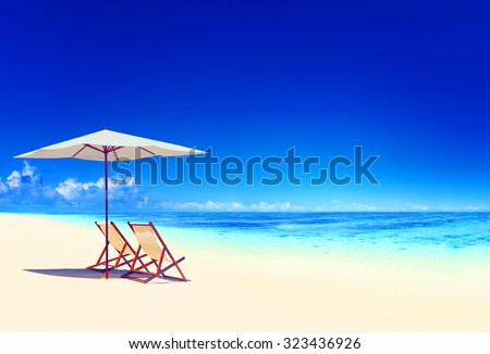 Travel Beach Summer Landscape Pacific Ocean Concept
