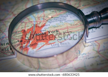 Travel concept backdrop wallpaper map new stock photo royalty free travel concept backdrop wallpaper map new york magnifying glass ocean voltagebd Gallery