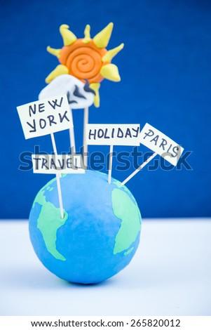 travel concept, paris, new york, holiday - stock photo