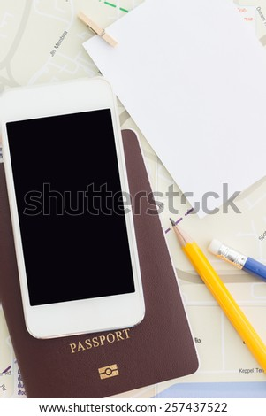 travel concept, prepare for traveling - stock photo