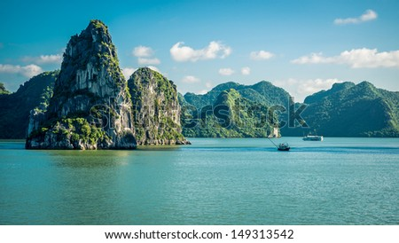Travel destination Vietnam - stock photo