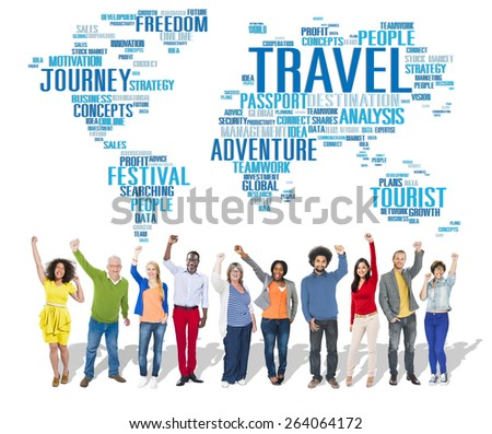 Travel Explore Global Destination Trip Adventure Concept - stock photo