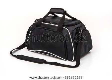 travel golf bag on white background
