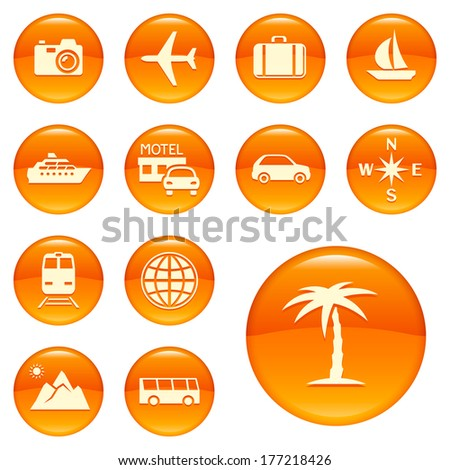 Travel icons. Raster version of EPS image 47070613 - stock photo