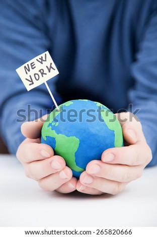 Travel in new york, earth concept - stock photo