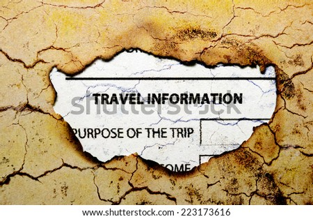 Travel information - stock photo