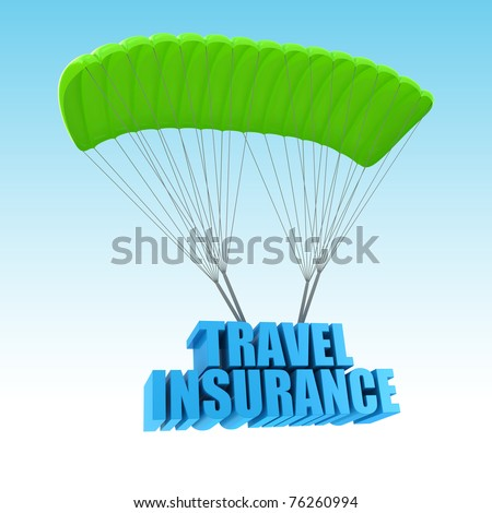 Travel Insurance 3d concept illustration - stock photo