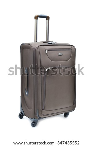 Travel luggage isolated on the white background - stock photo