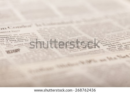 Travel, Newspaper, The Media. - stock photo