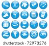 Travel set of different web icons - stock photo