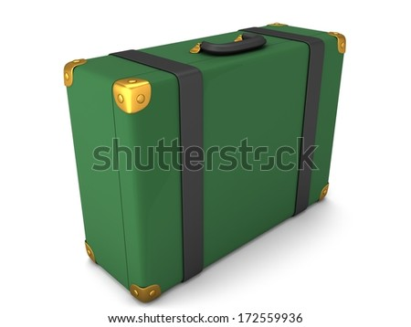 Travel Suitcase isolated on white background