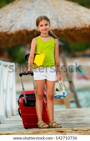 Travel, summer holidays - direction summer resort - stock photo