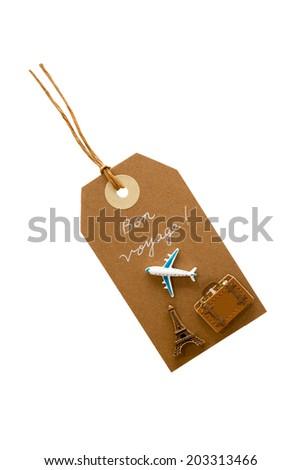 Travel tag - stock photo