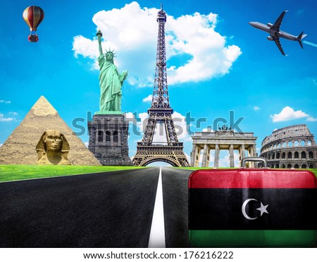 Travel the world conceptual image - Visit Libya - stock photo