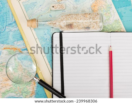 Travel to distant islands - stock photo