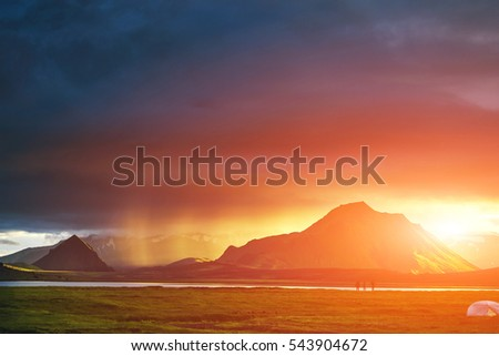 Hiker Top Pass Stock Photo Shutterstock - This man hikes up the transylvanian mountains every morning to photograph sunrise