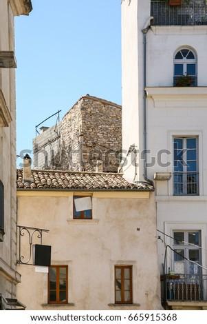 Beautiful Travel To Provence, France   Medieval Urban House On Square Place De La  Maison Carree